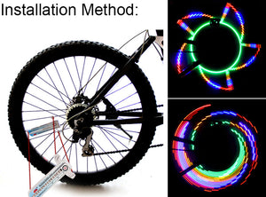 Colorful 32-Pattern Waterproof Bicycle Light Wheel Lights Cycling Accessories
