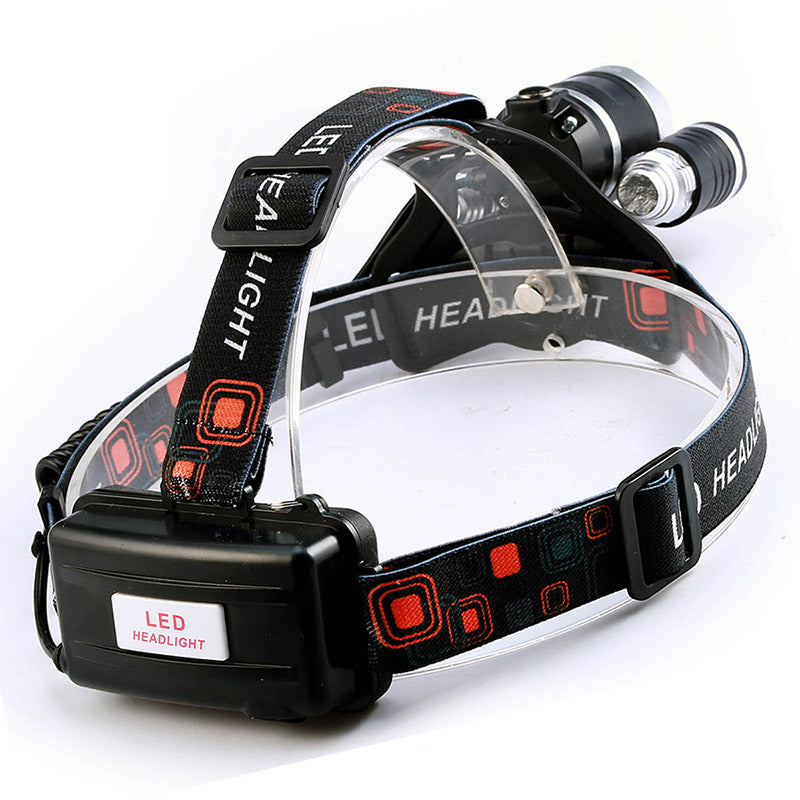 LED Headlamp Fishing Headlight with Rechargeable Batteries