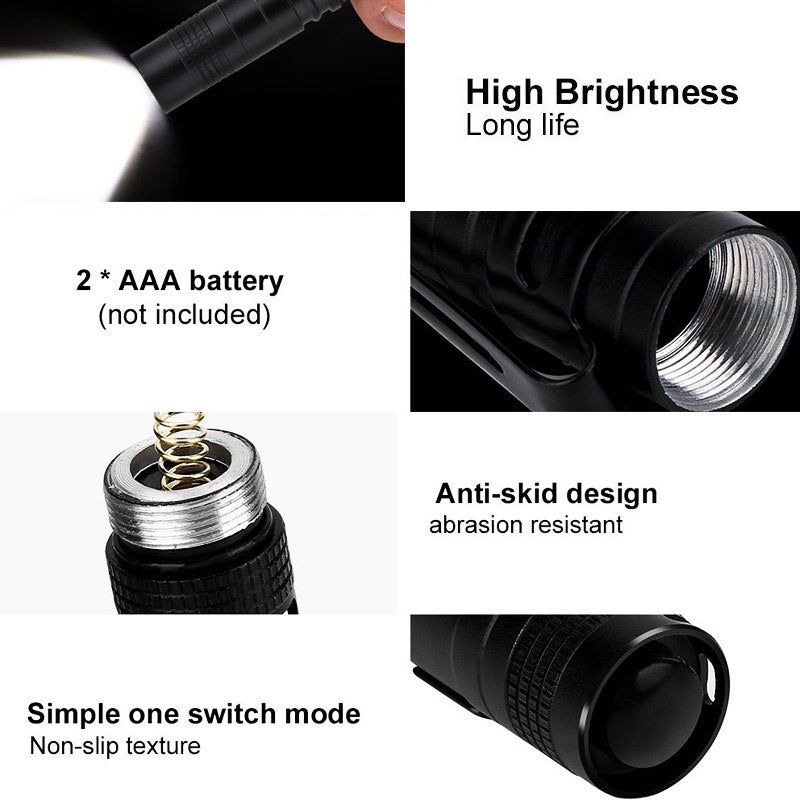 Portable Mini Pen Light  300LM Flashlight