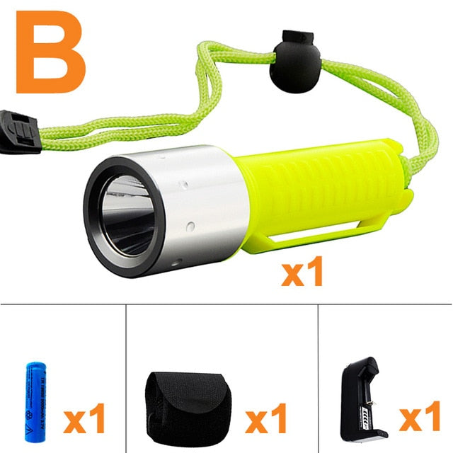 Q5 Diving LED Flashlight Waterproof Torch