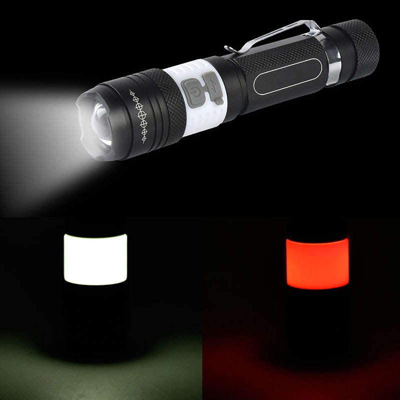 Portable 6000LM T6 COB LED Flashlight 6 Mode
