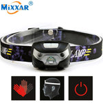 Rechargeable LED Headlamp Body Motion Sensor Headlight Camping