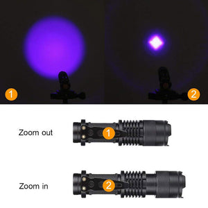 Zoomable Led UV Flashlight Marker Checker Detection