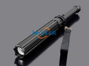 Self-defense Led L2 Toothed Mace 9000LM LED Spiked Mace Bat Long Flashlight