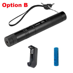 Military 532nm 5mw 303 Green Laser Flashlight For Hunting