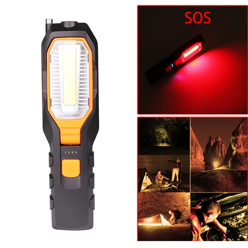 4000Lm COB LED Work light USB Rechargeable Flexible Magnetic Working light