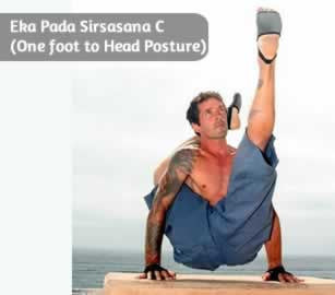 Eka Pada Sirsasana C (One foot to Head Posture)