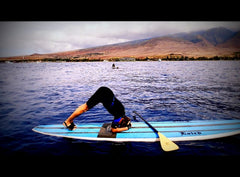 Paddleboarding and YogaPaws