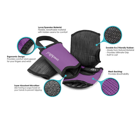 YogaPaws Yoga Gloves and Yoga Socks Features