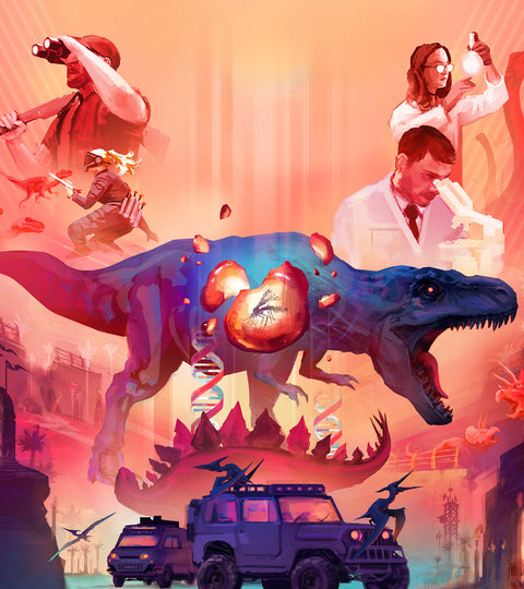 Two new DINO GAMES coming to Kickstarter on 9/22