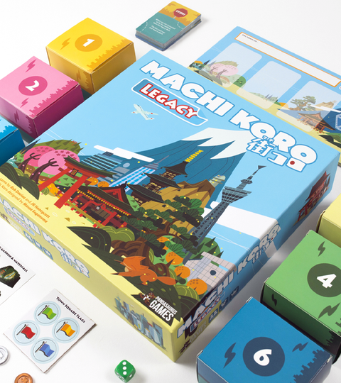 Machi Koro Legacy - From Rob Daviau, JR Honeycutt, Masao Suganuma with brand new artwork from Nobura Hotta!