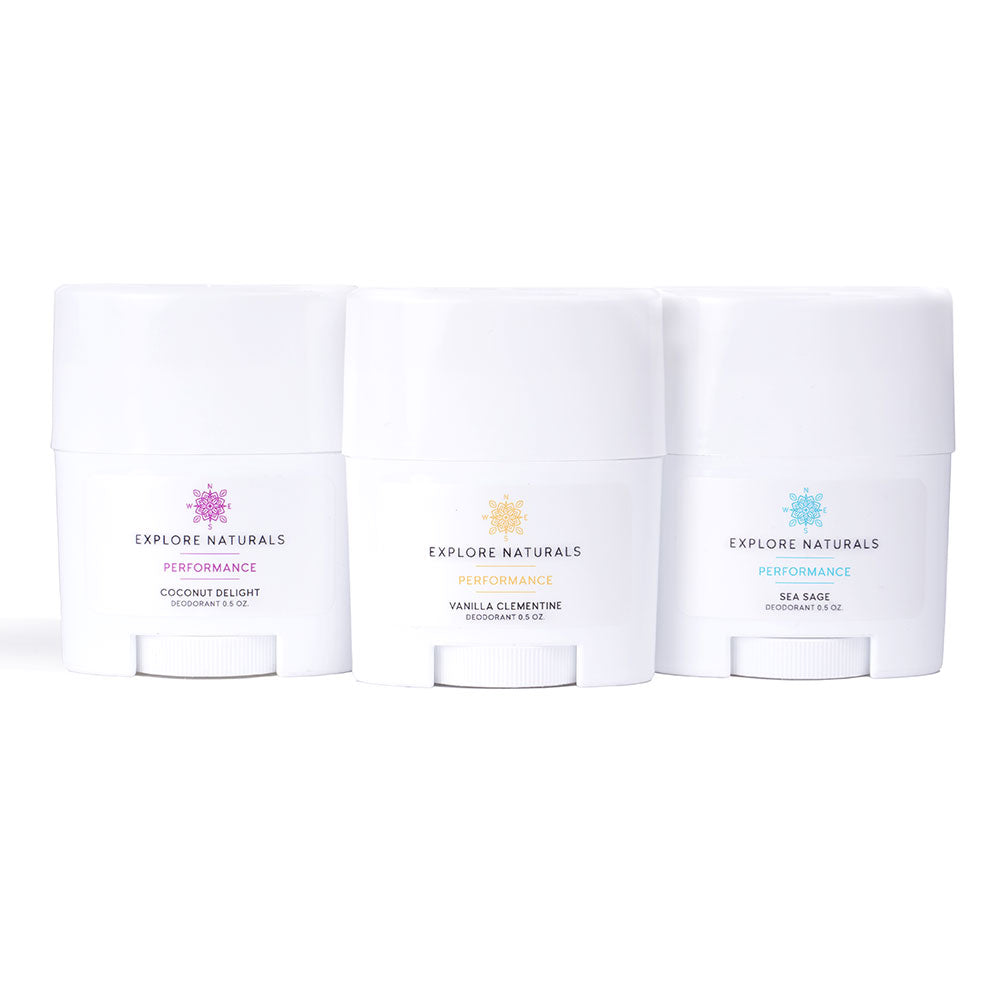 Natural Deodorant - Travel Set