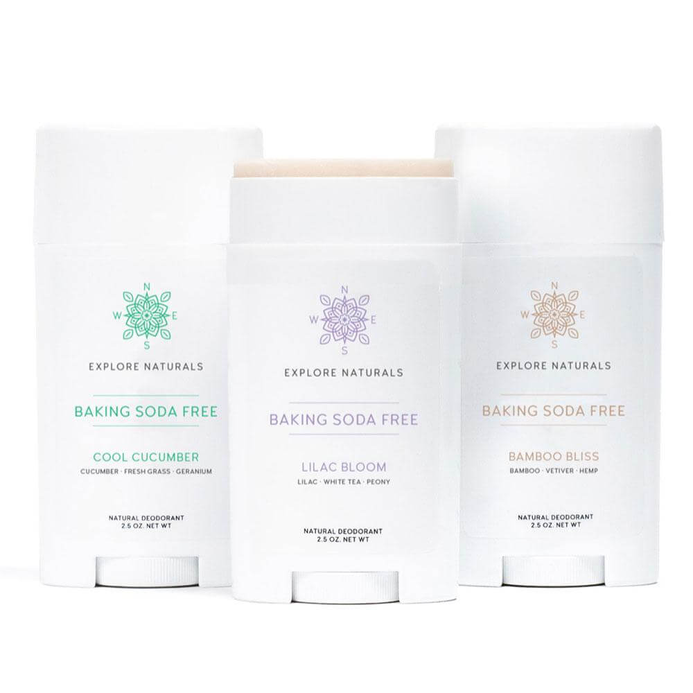 Natural Deodorant - Baking Soda Free Bestseller Set