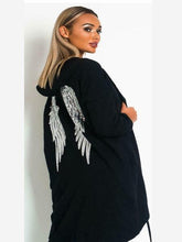 Load image into Gallery viewer, Angel Wing Sequin Hooded Jacket