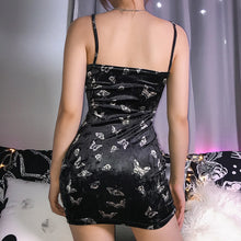 Load image into Gallery viewer, Butterfly Spaghetti Strap Mini Dress