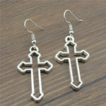 Vintage Style Cross Earrings