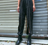 Reflective Patchwork Harem Pants