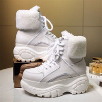 Hazel Leather Platform High-Top Winter Boots