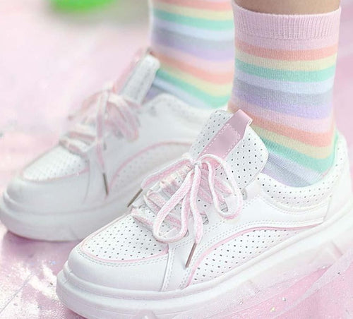 Kawaii Girl Rainbow Socks