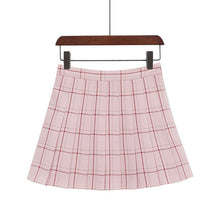 Load image into Gallery viewer, Plaid A-Line Mini Skirt