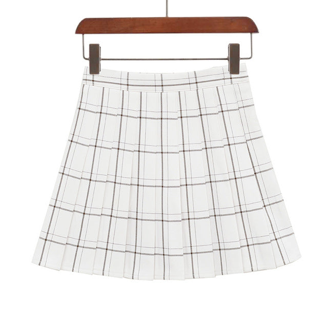 Plaid A-Line Mini Skirt