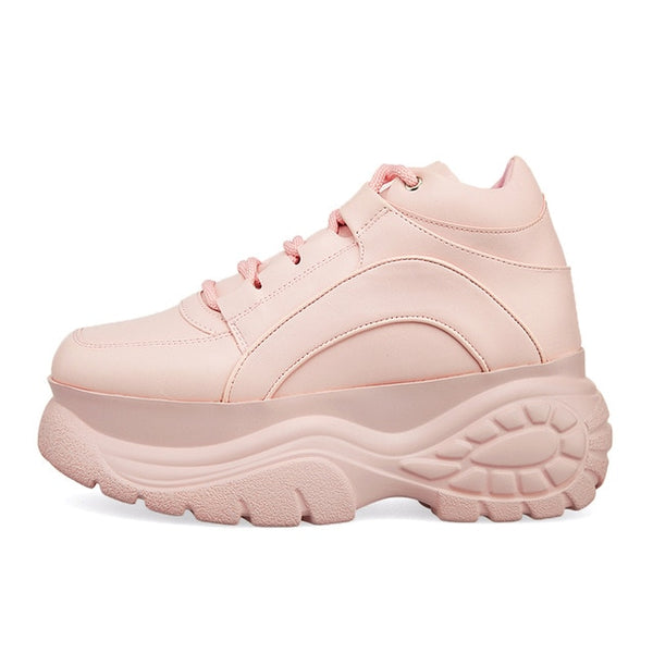 Pink Platform Sneakers Soft Girl Y2K