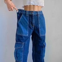 Patchwork Baggy Cargo Pants Vintage Style