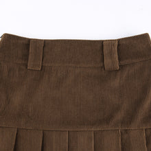 Load image into Gallery viewer, Corduroy & Lace Y2K Aesthetic Mini Skirt