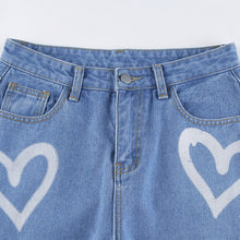 Load image into Gallery viewer, Loveheart Print Y2K Jeans