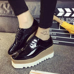 Patent Lace-Up Platform Loafers