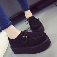 Velvet Thick Sole Muffin Creepers