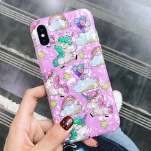 Load image into Gallery viewer, Cute Cartoon Unicorn iPhone Case
