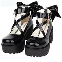 Patent Leather Lolita Wedge Pumps