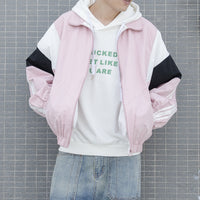 Block Colour Bomber Jacket