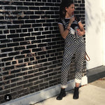 Loose Checkerboard Overalls