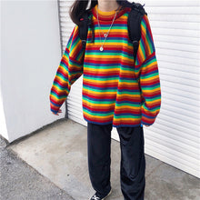 Load image into Gallery viewer, Cute Rainbow Striped Jumper