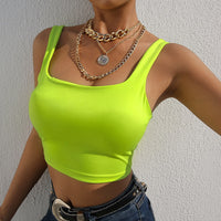 Neon Green Crop Top