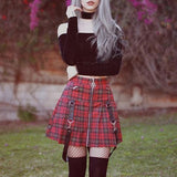 Pleated Punk Mini Skirt