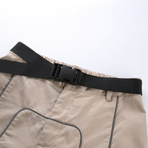 Reflective High Waist Cargo Pants