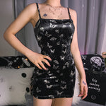 Butterfly Spaghetti Strap Mini Dress