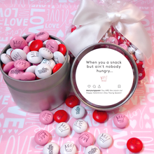 "Load image into Gallery viewer, Single Queen Valentine's Day ""Snack"" Tin"