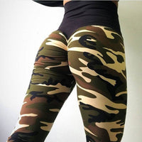 2018 New Camo Print Leggings - Black / L