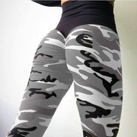 2018 New Camo Print Leggings - Gray / L