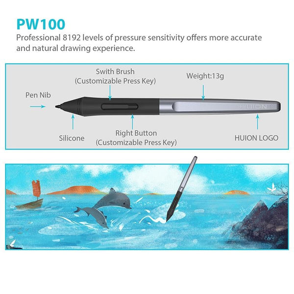 H610 Pro V2 10 Digital Tablets Graphic Drawing Pen Tablet 8192 Levels Tilt Function Battery-Free Stylus With Glove Gift
