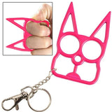Stay Safe With Kitty Key Chain - Pink