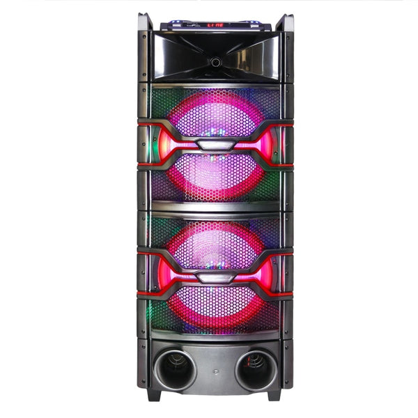 Befree Sound Dual 12 Inch Subwoofer Bluetooth Portable Party Speaker With Sound Reactive Party Lights Usb/ Sd Input Rechargeable Battery