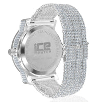 Silver Classic All Round Full Cz And Crystal Accented Watch And Band