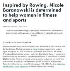 Inspired by Rowing, Nicole Baranowski is determined to help women in fitness and sports