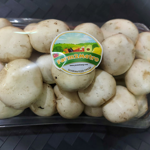 Fresh Organic Button Mushroom - order price / 500 grams