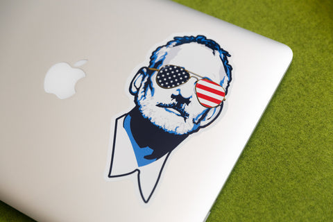 Christmas Gift Ideas and Stocking Stuffers - Bill Murray Sticker Decal - Red White and Blue
